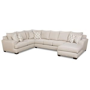 Oatmeal Sectional with Chaise