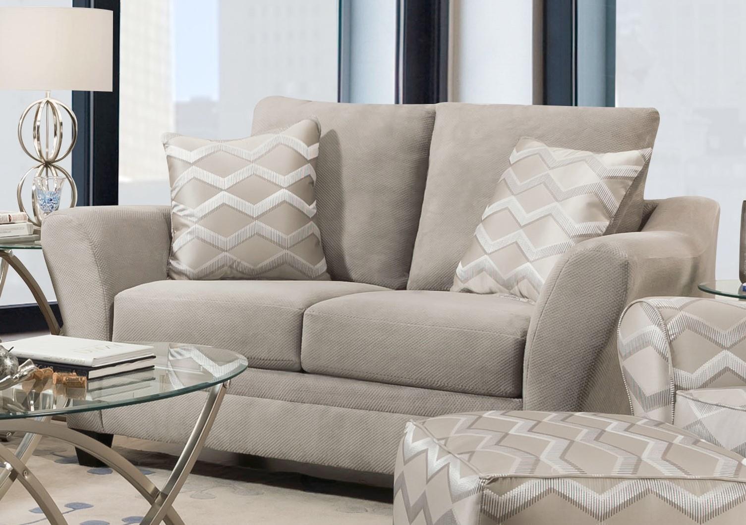 40F Copper Platinum 40F2 Loveseat by Corinthian at Furniture Fair - North Carolina