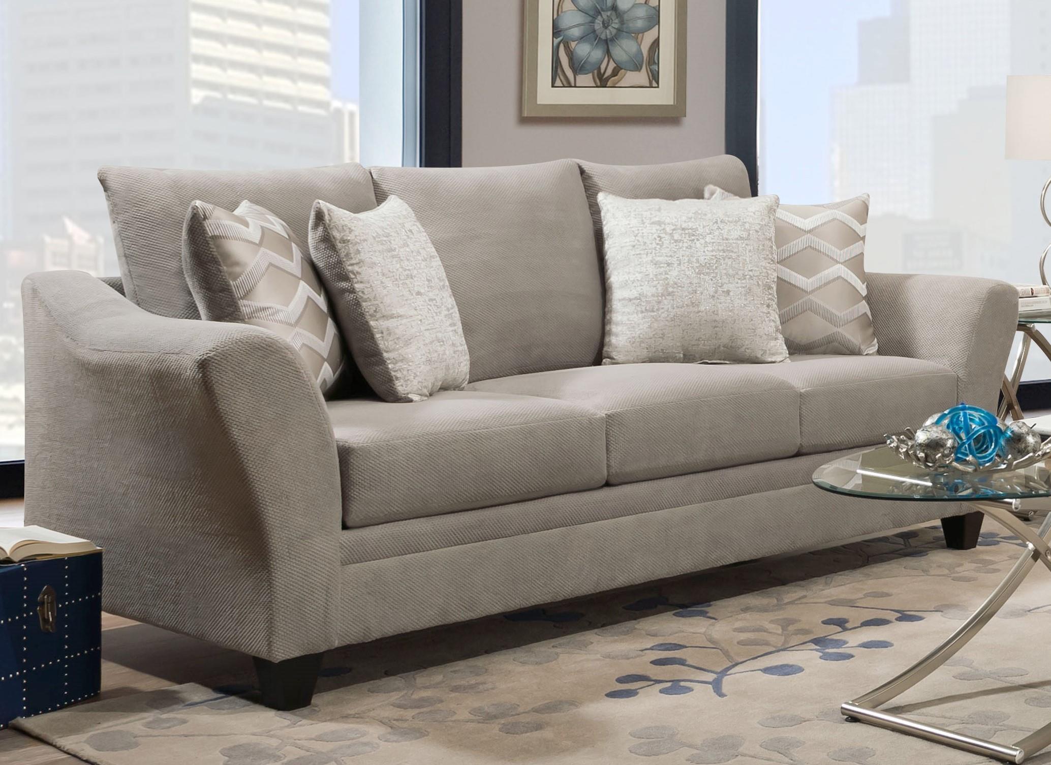 40F Copper Platinum 40F3 Sofa by Corinthian at Furniture Fair - North Carolina