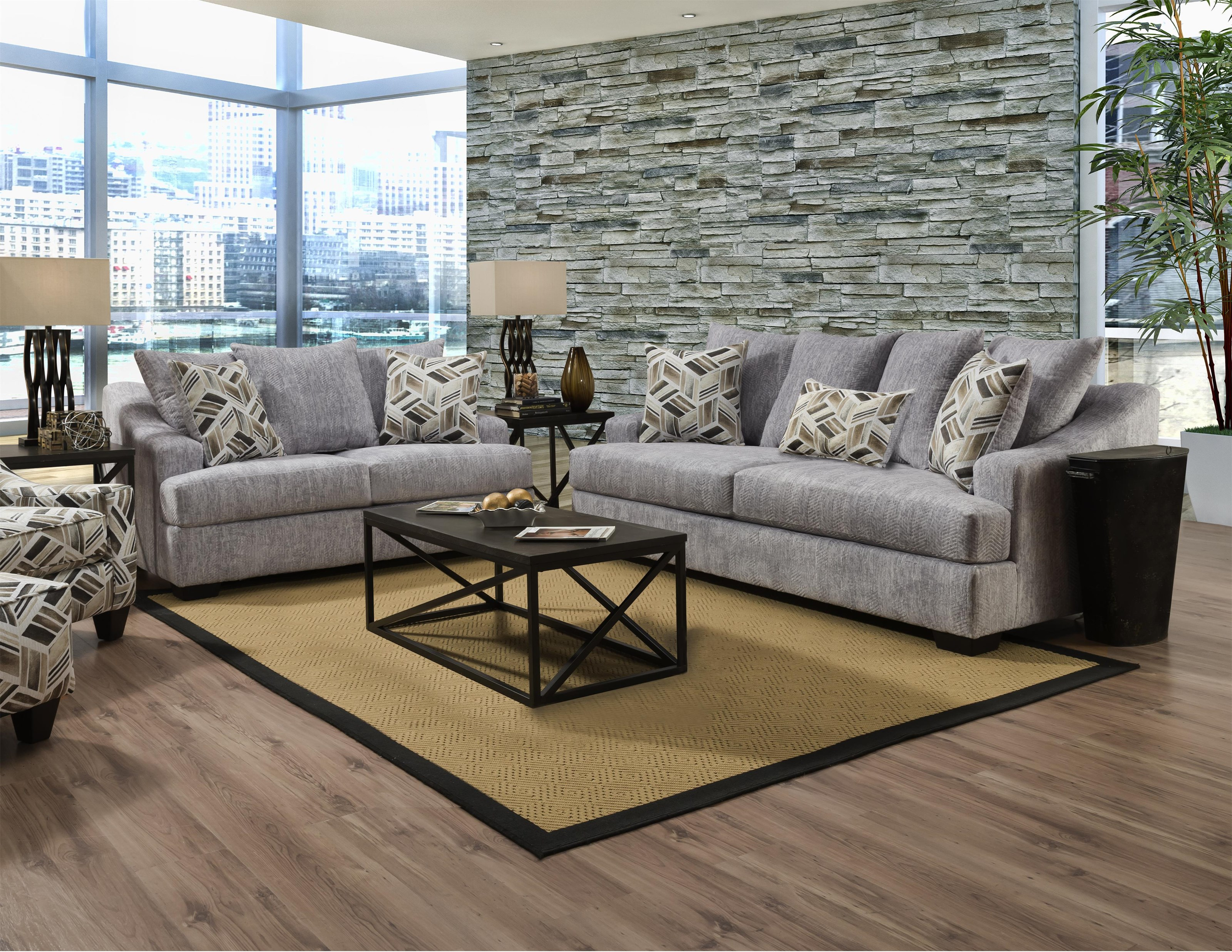 4210 Stationary Living Room Group by Corinthian at VanDrie Home Furnishings