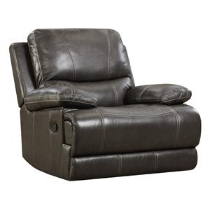 Brooklyn Charcoal Leather Rocker Recliner