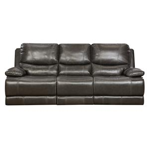Brooklyn Charcoal Leather Reclining Sofa