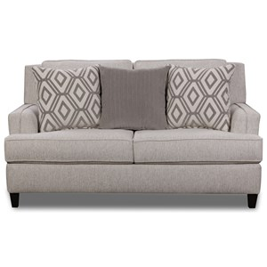 Transitional Loveseat with Toss Pillows