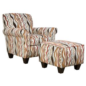Corinthian 47A0 and 47B0 Specialty Chair and Ottoman