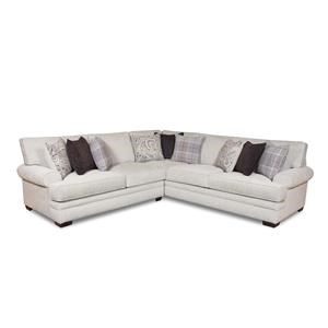 2 Piece Transitional Sectional