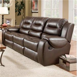 Reclining Sofa with 2 Reclining Seats