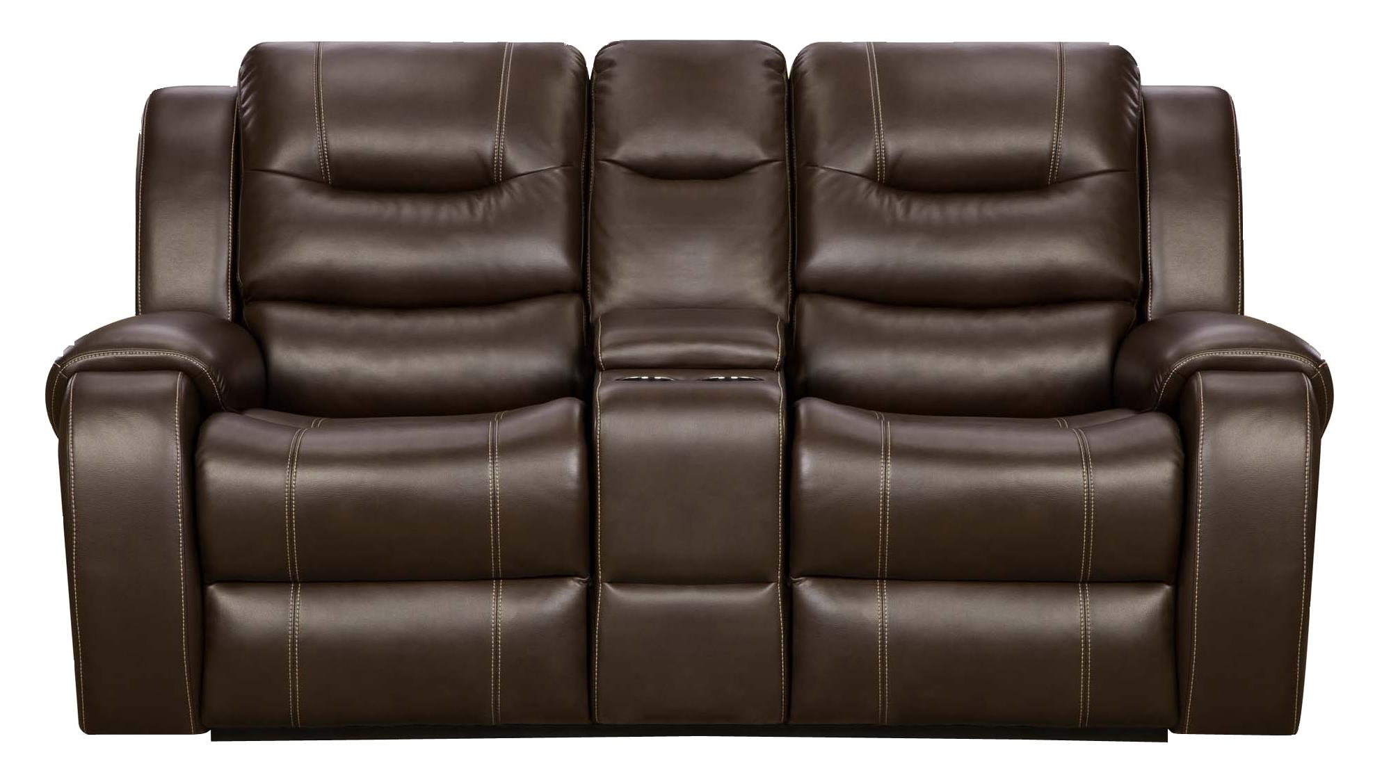 Madison Reclining Console Loveseat at Belfort Furniture
