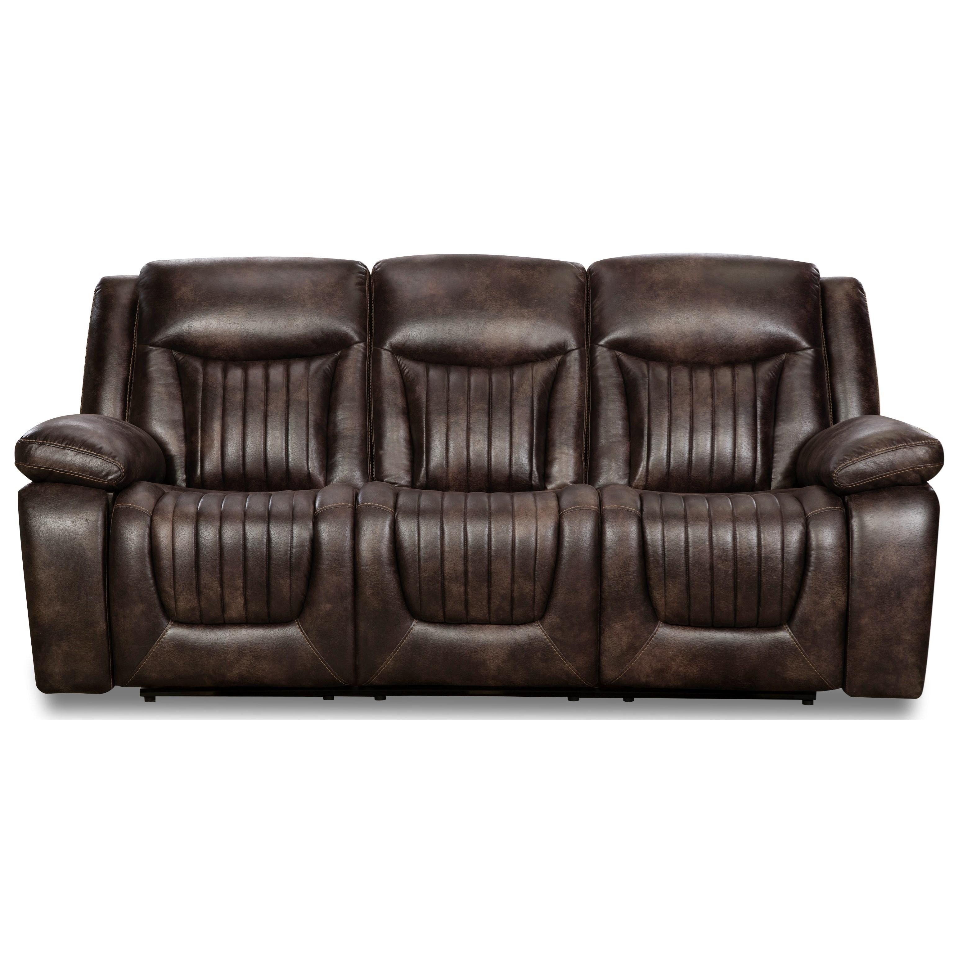 77701 Power Headrest Sofa with Drop Table by Corinthian at Furniture Fair - North Carolina