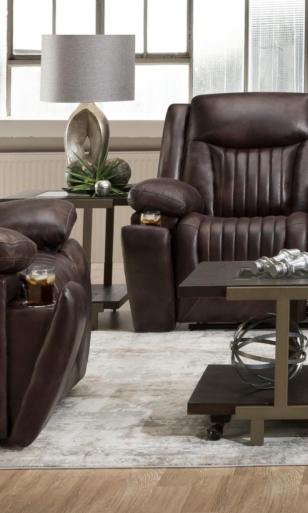 L77701 Power Leather Headrest Recliner by Corinthian at Furniture Fair - North Carolina