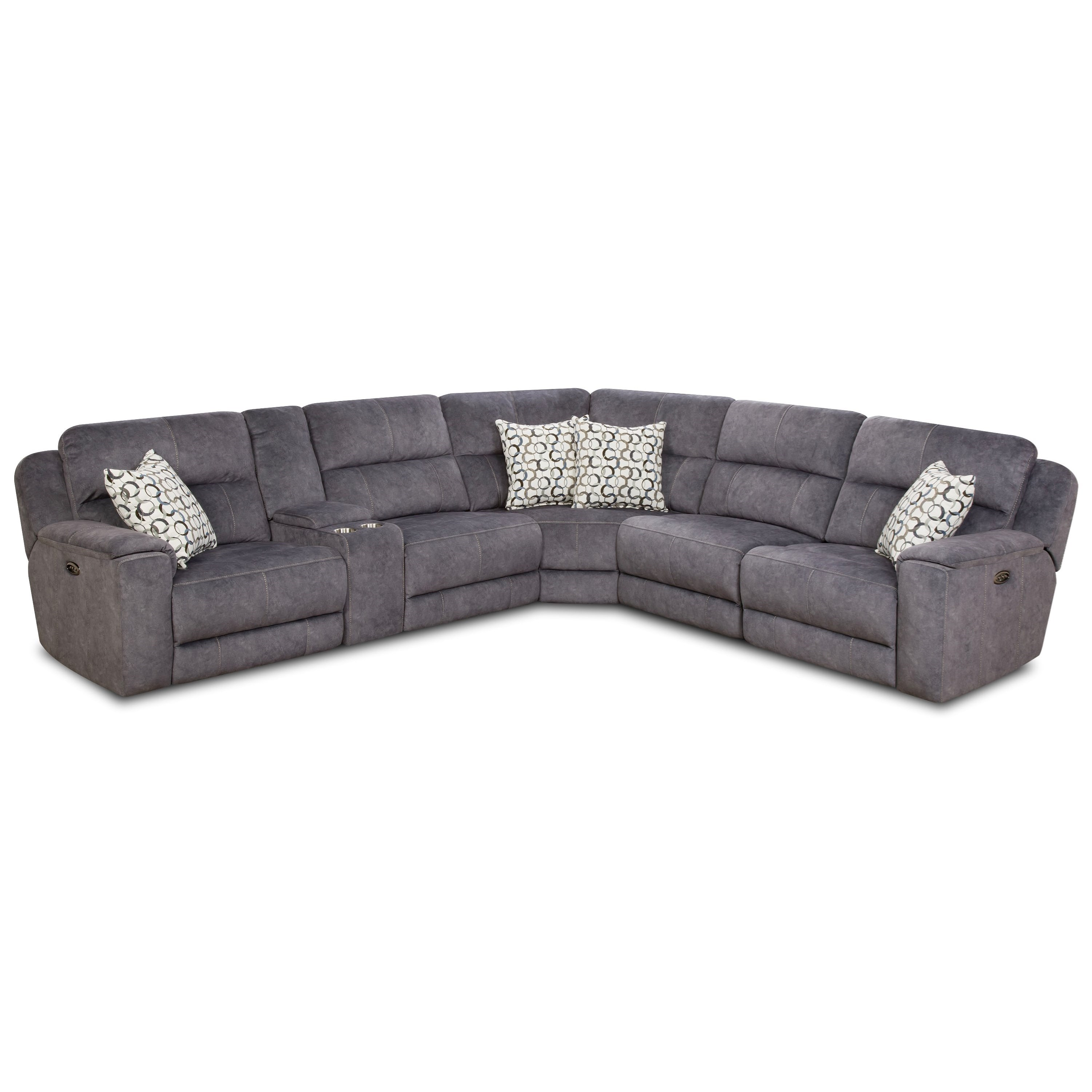 79003 Reclining Sectional Sofa (2 Recliners) by Powell's V.I.P. at Powell's Furniture and Mattress