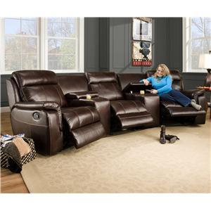 Corinthian 862 Sectional Sofa with 3 Seats