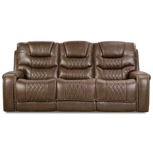 Power Reclining Sofa with Power Headrests and Drop-Down Table