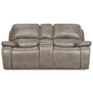 Casual Reclining Console Loveseat