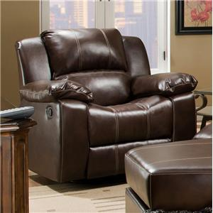 Swivel Glider Recliner with Bustle Wing Back