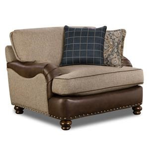 Chair and a Half with Nailhead Trim