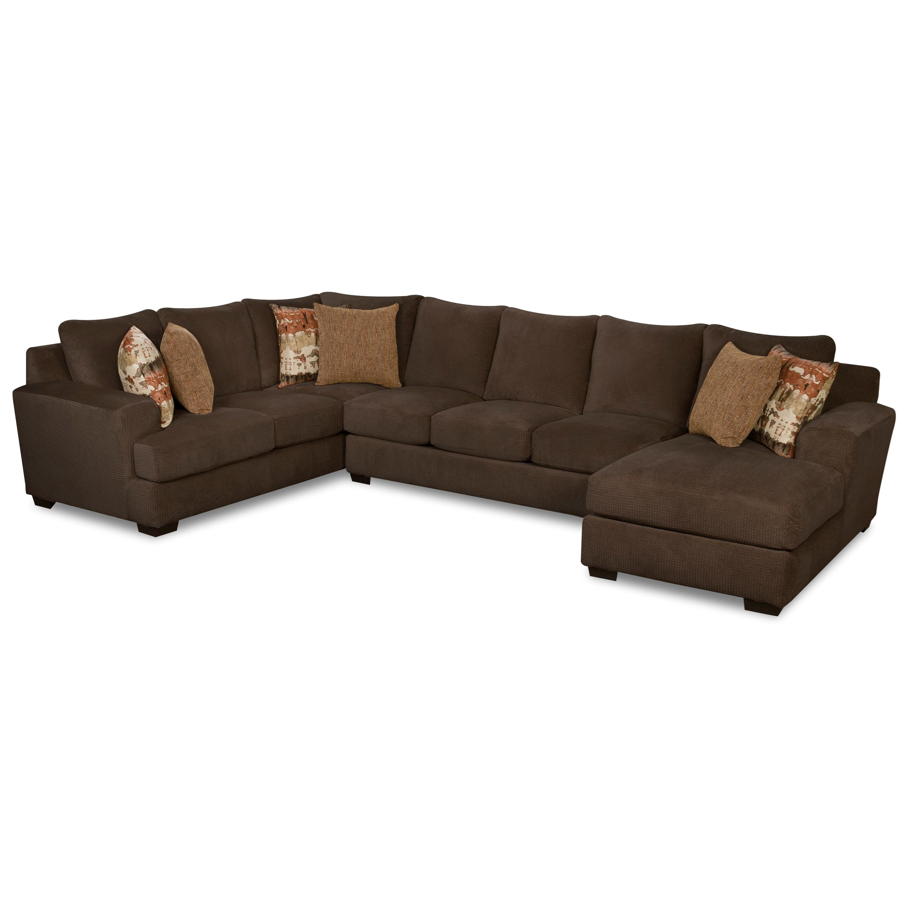 35B0 Sectional with Right Arm Facing Chaise by Corinthian at Story & Lee Furniture