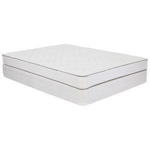 "King Plush Innerspring Mattress and 9"" Wood Foundation"