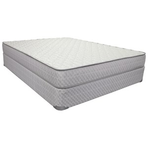 "Twin 8 1/2"" Innerspring Euro Pillow Top Mattress and 9"" Wood Foundation"