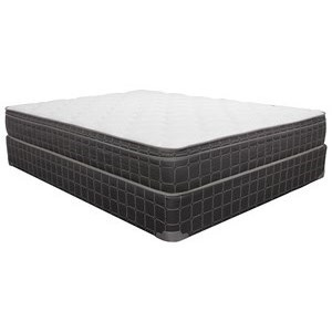 "Twin 8 1/2"" Innerspring Euro Top Mattress and 9"" Wood Foundation"
