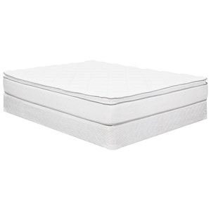"King Euro Top Innerspring Mattress and 9"" Wood Foundation"