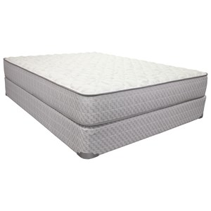 "Queen 10 1/2"" Firm Innerspring Mattress and 9"" Wood Foundation"
