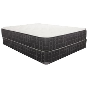 "King 10.5"" Plush Mattress and 9"" Wood Foundatio"