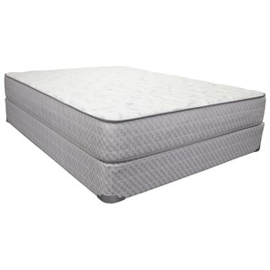 "King 10 1/2"" Plush Innerspring Mattress and 9"" Wood Foundation"