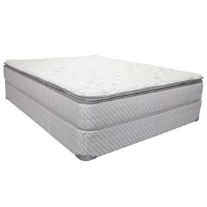 "King 10 1/2"" Pillow Top Innerspring Mattress and 9"" Wood Foundation"