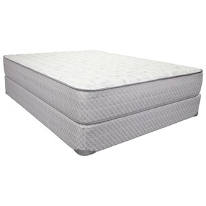 "Twin 12"" Firm Innerspring Mattress and 9"" Wood Foundation"