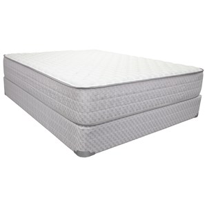 "Full 11 1/2"" Firm Pocketed Coil Mattress and 9"" Wood Foundation"