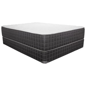 "King Plush Mattress and 9"" Wood Foundation"