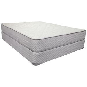 "King 9 1/2"" Firm Two Sided Mattress and 9"" Wood Foundation"