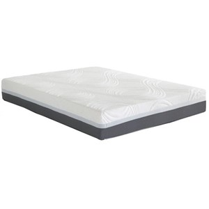 "Corsicana 9610 Phase II Gel Twin XL 10"" Gel Memory Foam Mattress"