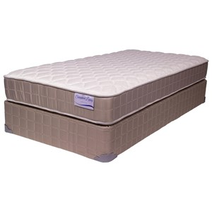 "Full 9"" Firm Double Sided Mattress and 9"" Wood Foundation"