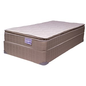 """Full 9 1/2"""" Pillow Top Mattress and 9"""" Wood Foundation"""