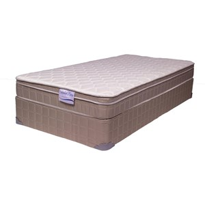 "Full 8"" Euro Top Mattress and 9"" Wood Foundation"