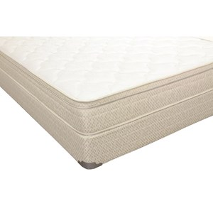 "Twin 8 1/2"" Euro Top Mattress and 9"" Wood Foundation"
