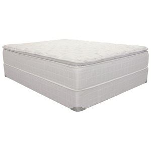 Full Pillow Top Pocketed Coil Mattress and Wood Foundation