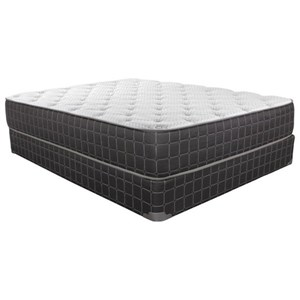 "King Plush Innerspring Mattress and 5"" Low Profile Steel Foundation"