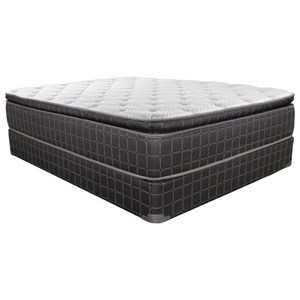 King Pillow Top Innerspring Mattress and Steel Foundation
