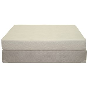 "Queen 8"" Memory Foam Mattress and 9"" Wood Foundation"