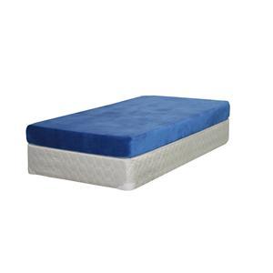 Kids Blue Twin Memory Foam Mattress and Box Spring