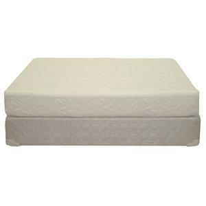 "King Plush 8"" All Foam Mattress + Foundation"