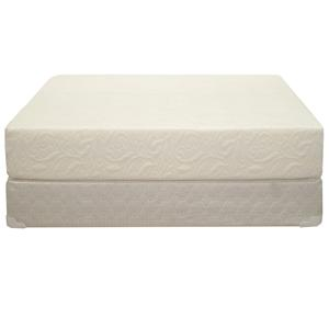 "King Ultra Plush 10"" All Foam Mattress and Box Spring"