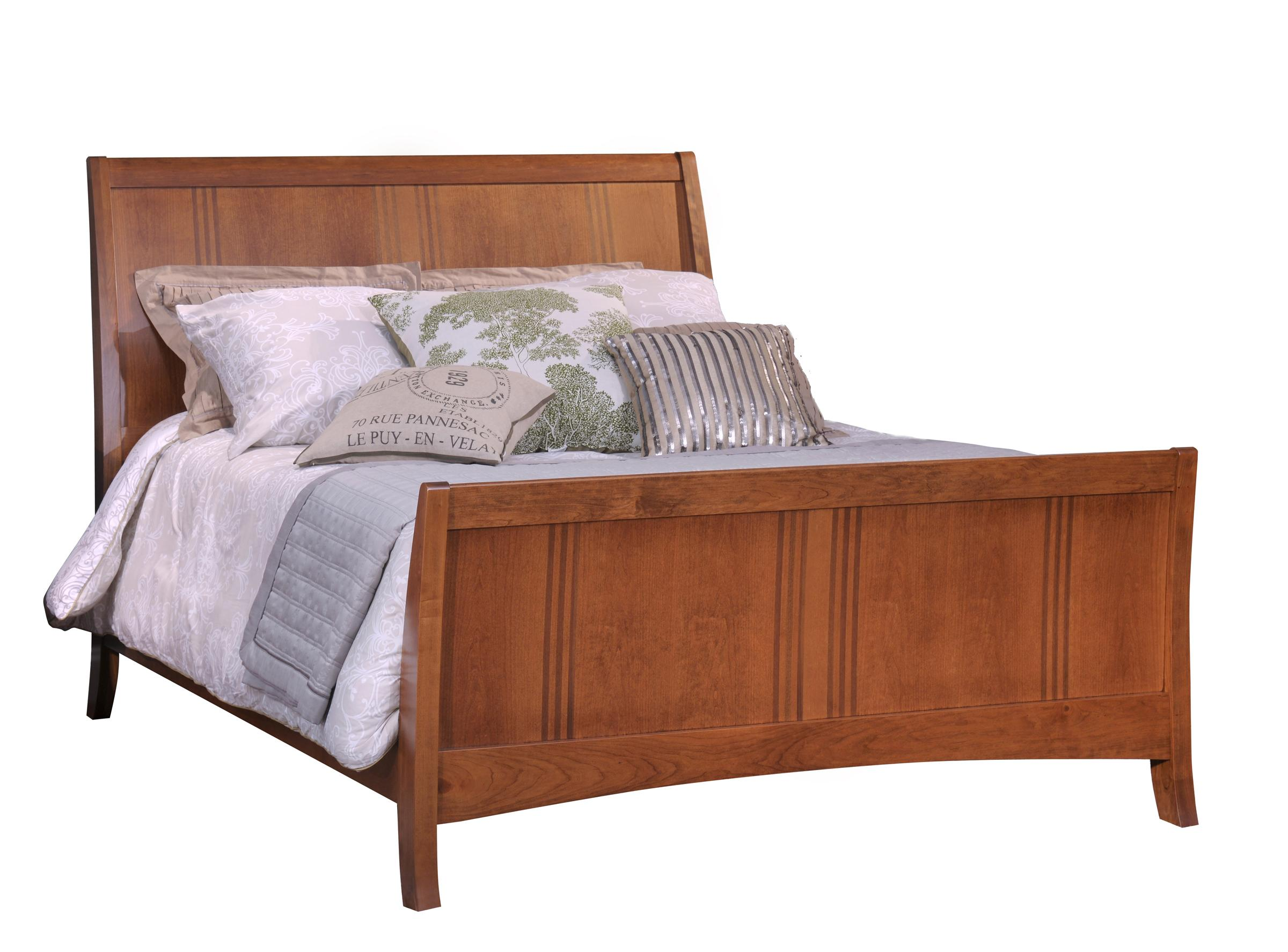 Great Lakes CK Sleigh Bed by Country View Woodworking at Mueller Furniture