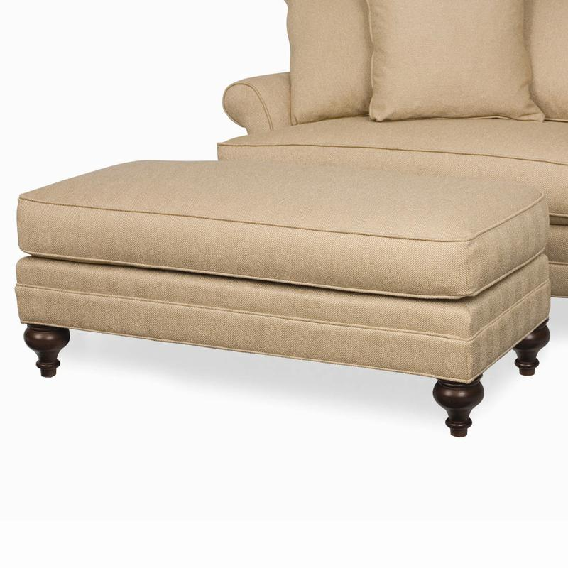 Kasey Wide Ottoman by C.R. Laine at Alison Craig Home Furnishings