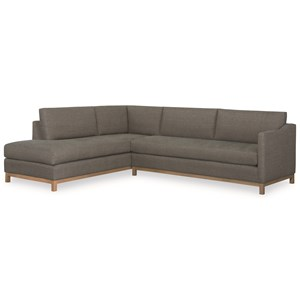 Contemporary Two Piece Sectional Sofa with Chaise