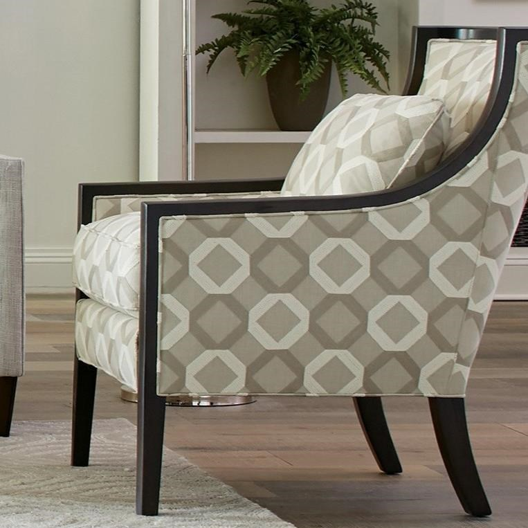 001810 Wood Accent Chair by Craftmaster at Lindy's Furniture Company