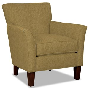 Contemporary Flare Arm Accent Chair
