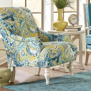 Traditional Chair with English Arms and Scrolled Back